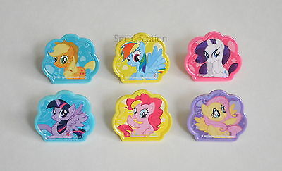 12 My Little Pony Cup Cake Rings Topper Bday Party Goody Bag Favor Pinata - My Little Pony Rings