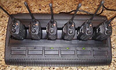 6 Motorola Ht1250 Uhf 2-way Radios 403-470mhz Aah25rdf9aa5an W Impres Charger