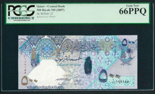 Qatar 2007 - 500 Riyals UNC Banknote P#27 - GEM UNC 66 PCGS PMG