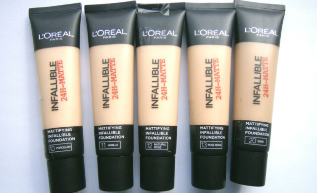 L'OREAL INFALLIBLE 24H-MATTE MATTIFYING FOUNDATION 35ml-VARIOUS CHOICES USE MENU