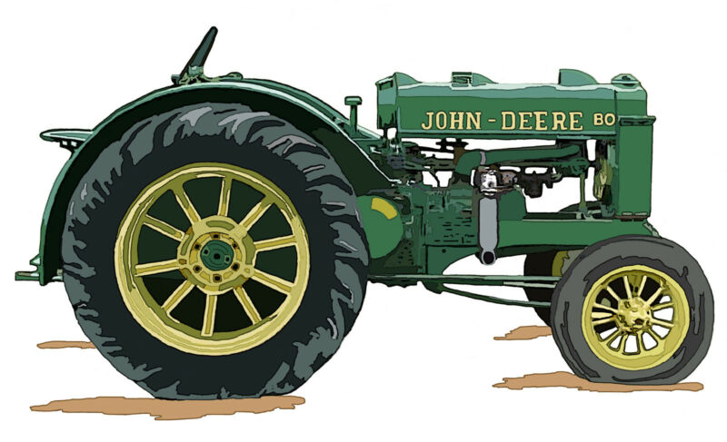 John Deere Model BO canvas art print by Richard Browne Orchard Tractor