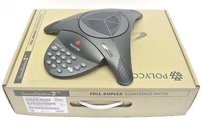 Brand New Polycom Soundstation 2 2200-15100 Basic Conference Phone Station