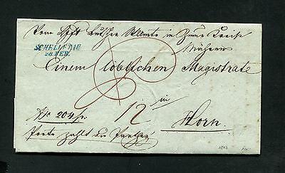 """Österreich Vorphila - """"Schelletau"""" blauer L2 auf Brief von 1843   (#1601)"""