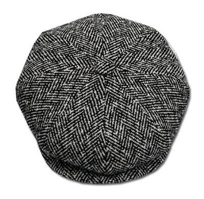 Herringbone Applejack Newsboy Cabbie Big Apple Tweed Ivy Golf Hat Cap