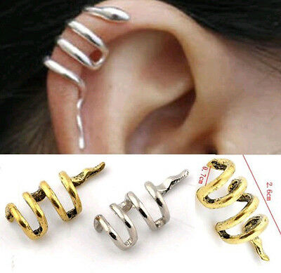 (New Snake Cartilage Earrings Cuff Clip Wrap Studs Ear Fashion Retro Gothic Punk)