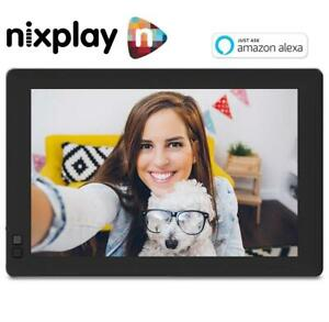 NEW NIXPLAY WIFI DIGITAL PHOTOFRAME W10B 244432659 10.1 Inch Widescreen PHOTO FRAME with Alexa Integration