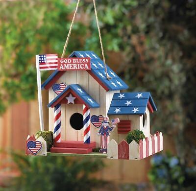 "Patriotic Birdhouse ""From Sea to Shinning Sea"""