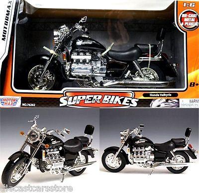 HONDA VALKYRIE BLACK 1/6 MOTORCYCLE MODEL BY MOTORMAX 76252BK
