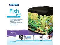Fish Pod Glass Aquarium Fish Tank - 48 L