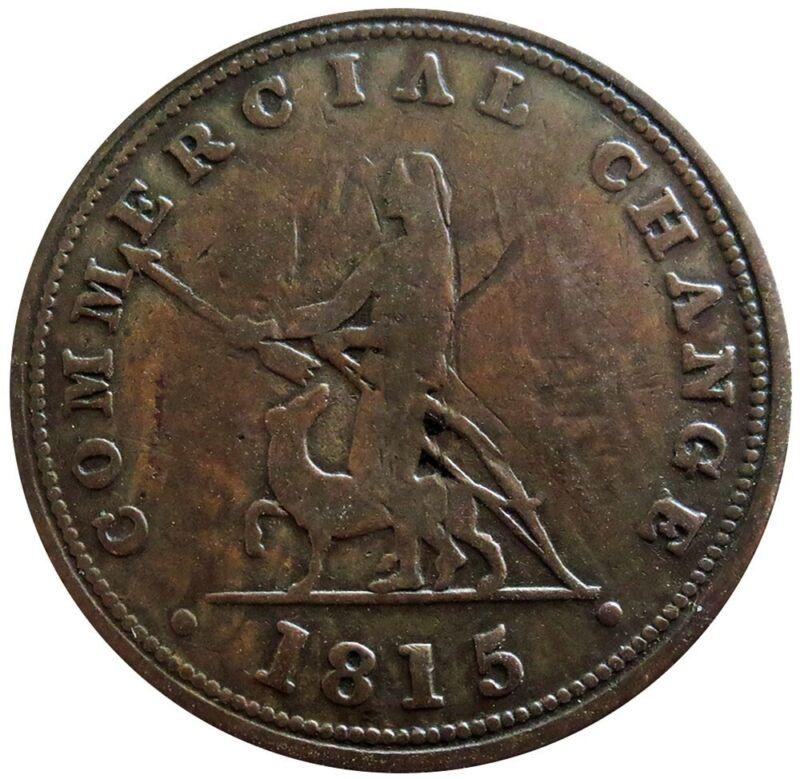 1815 NOVA SCOTIA CANADA 1/2 PENNY COMMERCIAL CHANGE TOKEN NS-12