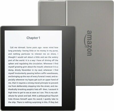 """Amazon Kindle Oasis WiFi E-reader 9th Gen 8GB Graphite 7"""" High-Res Display (300"""