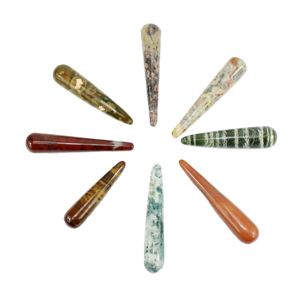 budawi® - Edelstein Massagesteine Massage Stab verschiedene Sorten Jaspis Achat