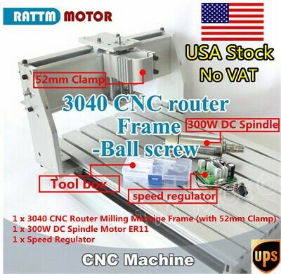At Usa3040 300w Cnc Wood Router Ball Screw Engraving Milling Machine Frame Kit