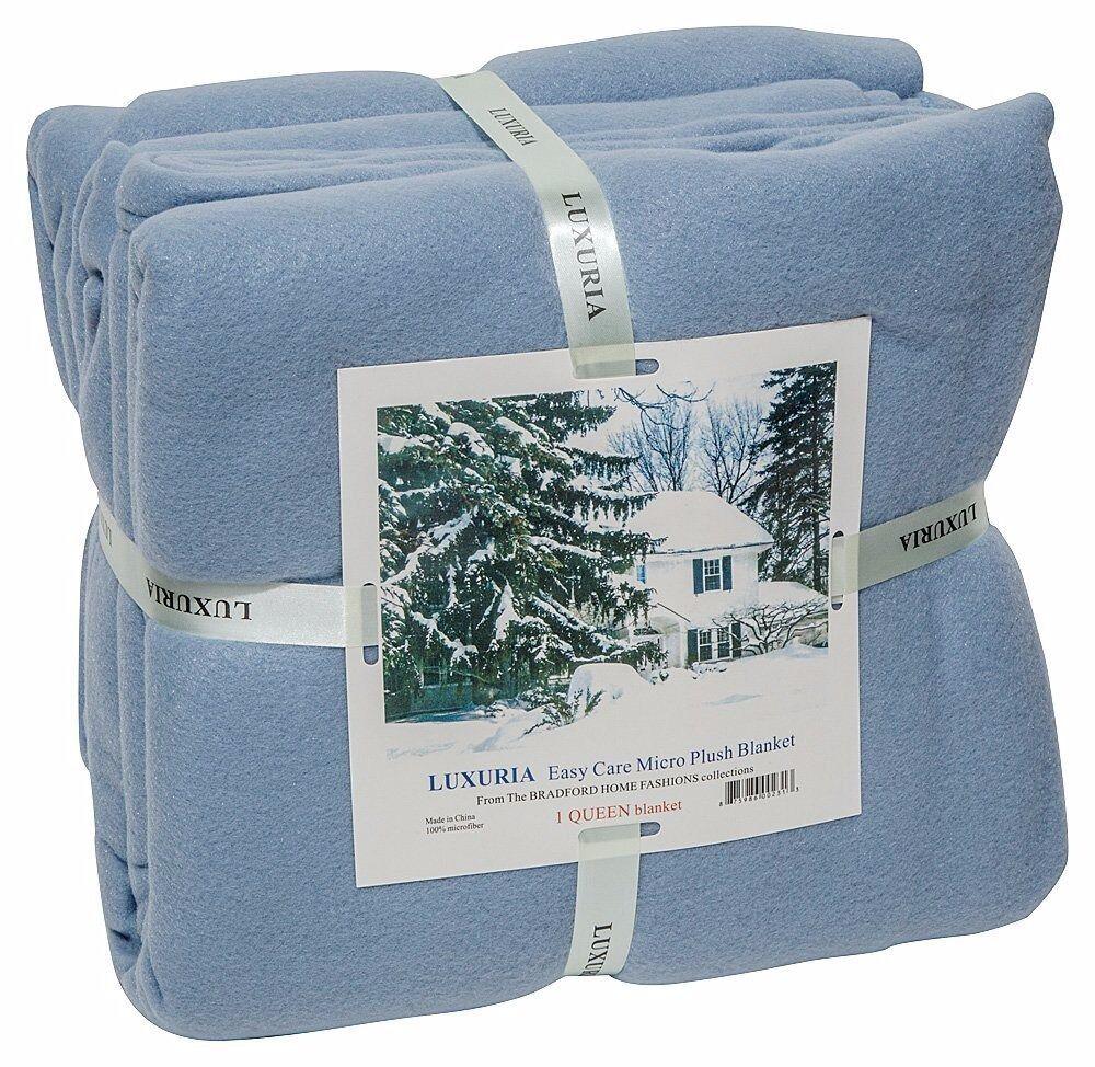 LUXURIA Micro Plush Blanket,  King ~Queen ~ Full ~Twin~ 6 co