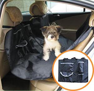 New-Hammock-Pet-Dog-Cat-Car-Seat-Cover-Black-w-Pockets