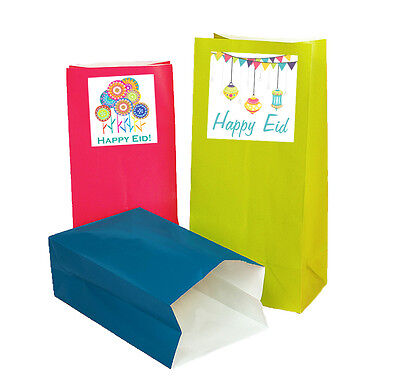 - Eid Party Deluxe Favor and Treat Bags 12 Pack Islamic Muslim Holiday Decoration