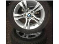 BMW 16 INCH ALLOYS WITH AS NEW TYRES
