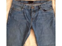 mens jeansBen Sherman icon stone washed jeans 40w 32l button fly only £8