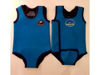 x 2 BABY KONFIDENCE BLUE WETSUITS IN GREAT CONDITION