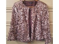 Bronze sequin jacket - unworn