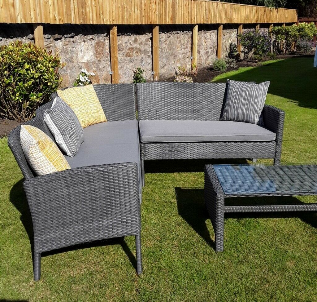 Awesome Nevada Grey Rattan Corner Sofa Set In Kirkcaldy Fife Gumtree Caraccident5 Cool Chair Designs And Ideas Caraccident5Info