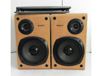 SONY SS-CCP11 Hifi Stereo Audio Bookshelf Passive Speakers with Audio Cables