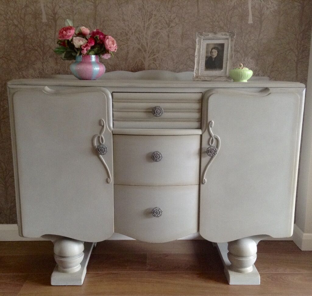 Vintage lebus 39 shabby chic 39 art deco sideboard for Deco murale shabby chic