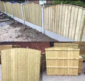 🃏Excellent Quality Bow Top Feather Edge New Fence Panels • Heavy Duty