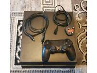 Ps4 playstation 4 500GB storage with original controller and wires