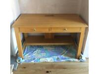 Lovely Wooden Desk with 2 Drawers in Great Condition