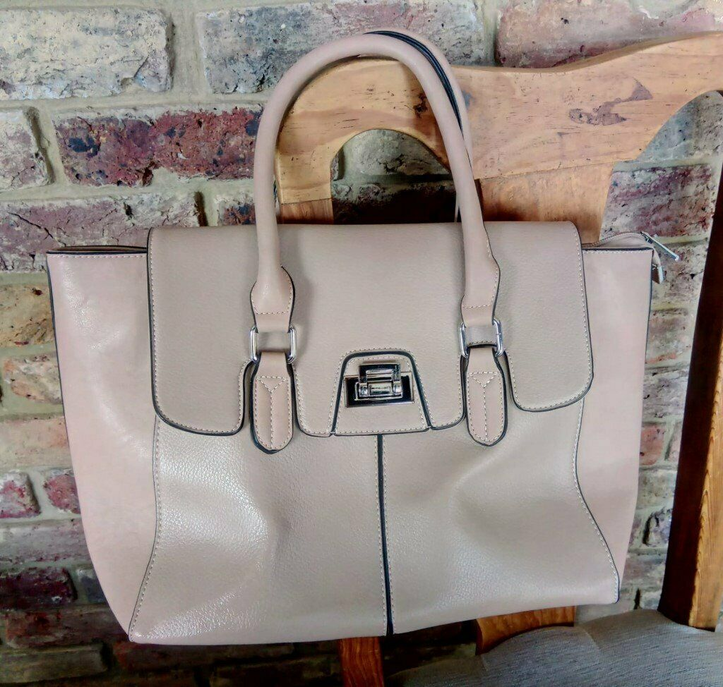 Hotter Natural Beige Tan Tote Handbag  c94ac71c3652f