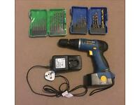 Workzone Cordless Drill, Charger & Drill Bits