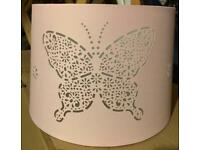 Pink butterfly children's lampshade