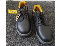 Caterpillar Men's Black Safety Shoes Size 8 - BRAND NEW Steel Toe Cap