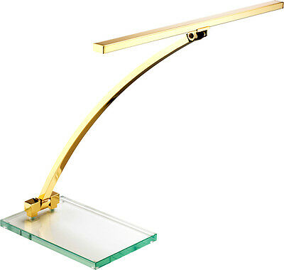 Jahn L8412 Klavierleuchte Klavierlampe Piano-Leuchte, Messing poliert, GLAS, LED