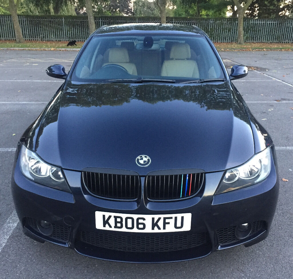 2006 bmw e90 325i saloon blue 335i m sport style replica leather dvd hpi clear in romford. Black Bedroom Furniture Sets. Home Design Ideas