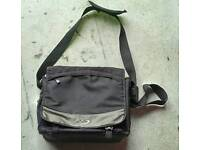 Black laptop satchel bag