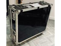 Heavy duty flight / hard case extra large with wheels used for mixer
