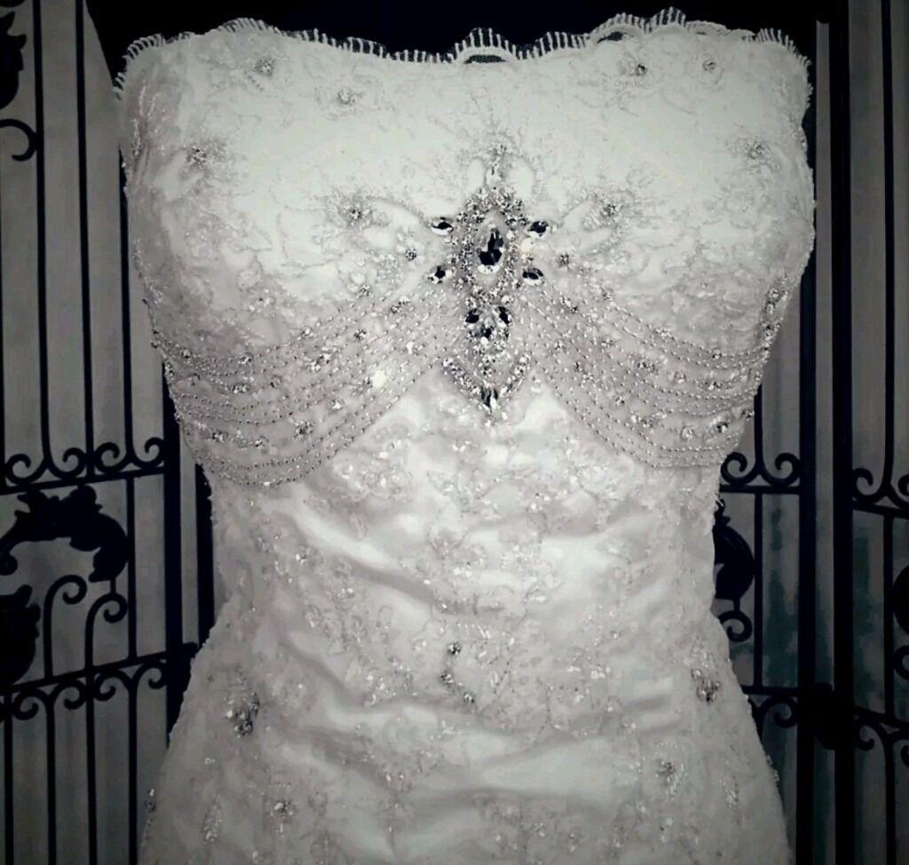 Symphony of venus wedding dress ivory size 8 comes with optional ...