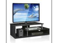 Furinno Econ Low Raise TV Stand/Unit - Blackwood
