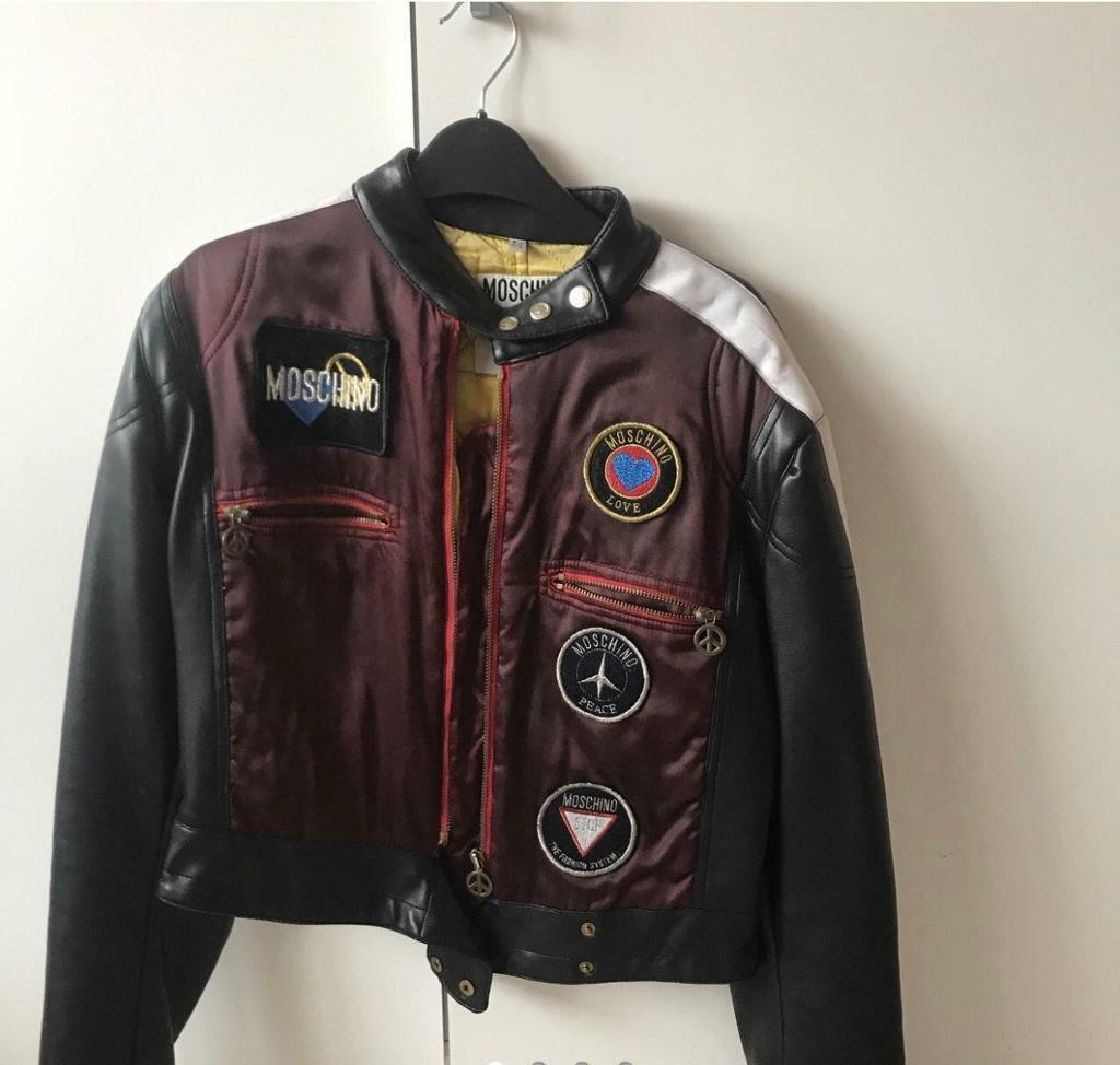 bab79a08f446f Moschino Leather Jacket Vintage | in Loughton, Essex | Gumtree