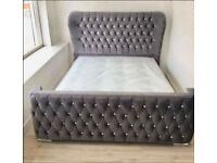 🔆 Be Spoke Luxury Bed 🔆 Wing Back Candle Headboard with Diamonds 🔆
