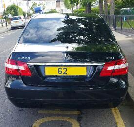 Mercedes E220 SE CDI BlueEFFICIENCY Saloon Black Auto Diesel 41000 miles FMBSH 2012 62reg Uber ready