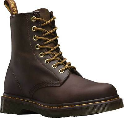 NEW Mens Dr Martens 1460 8 Eye Brown Aztec Crazy Horse Leather Boots AUTHENTIC Mens Aztec Crazy Horse