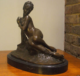 Bronze Figure Reclining Nude