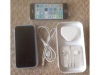 iPHONE 5c - BLUE - VODAFONE - INCL CASE, CHARGER, EARPHONES., SIM TOOL