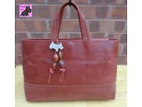 RADLEY - Large Tan Leather 'Mandu' Tote Bag *Immaculate Condition*