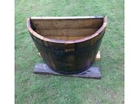QUARTER HALF MOON OAK WHISKY BARREL PLANTER (£10 EACH )