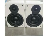Pair of Cambridge audio Minx XL white speakers