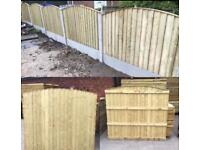 💫Excellent Quality Arch Top Feather Edge New Fence Panels